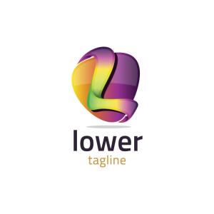 Modern 3d Letter L Logo
