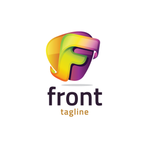 Modern 3d Letter F Logo