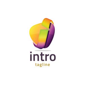 Modern 3d Letter I Logo