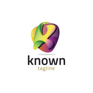 Modern 3d Letter K Logo