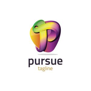 Modern 3d Letter P Logo