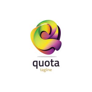 Modern 3d Letter Q Logo