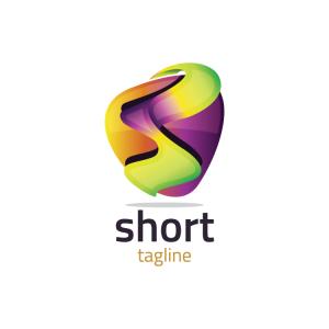 Modern 3d Letter S Logo