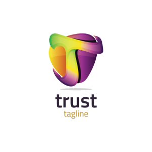 Modern 3d Letter T Logo