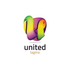 Modern 3d Letter U Logo