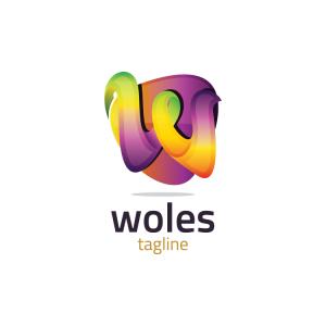 Modern 3d Letter W Logo