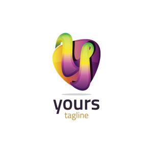 Modern 3d Letter Y Logo