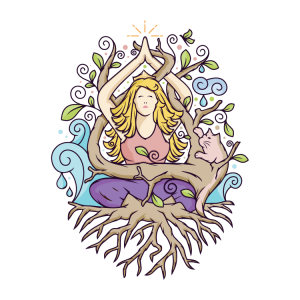 Nature Yoga Vector Illustration