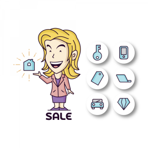 Sales Women Vector Illustration