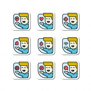 Boy Vector Icon Set