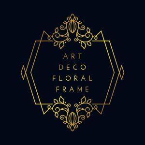 Art Deco Floral Frame