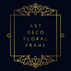 Elegant Art Deco Floral Frame