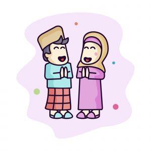 Moslem Kids Vector