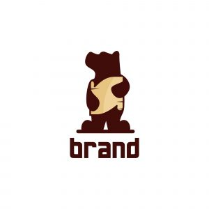 Bear Poster Logo Template