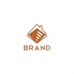 Home Stair Logo Template