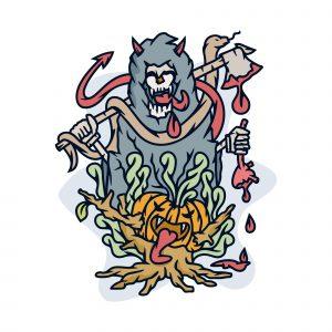 Devil Halloween Illustration