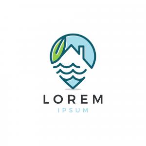 Home Lake Logo Template
