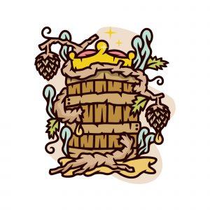Hop Beer Illustration