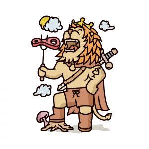Lion Food Illustration