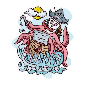 Skull Pirates Illustration
