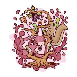 Wine Tree Illustration