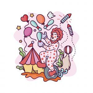 Clown Festival Illustration