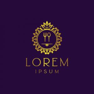 Regal Luxury Food Logo Template