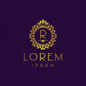 Regal Luxury Letter R Logo Template