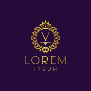 Regal Luxury Letter V Logo Template