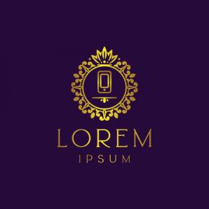 Regal Luxury Phone Logo Template